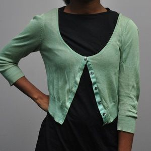 Mint green cardigan with buttons